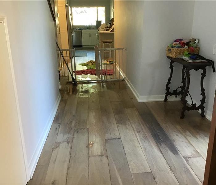 Water damage in a home