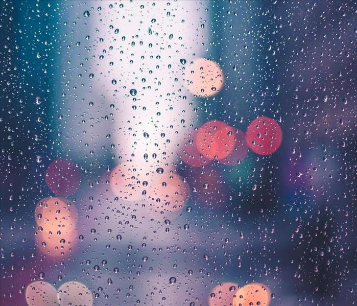 rain on window
